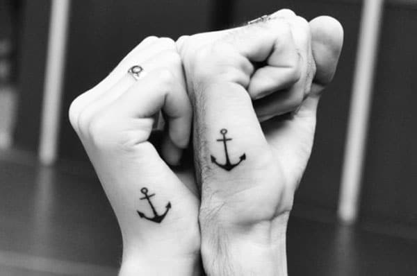 anchor tattoo on hand