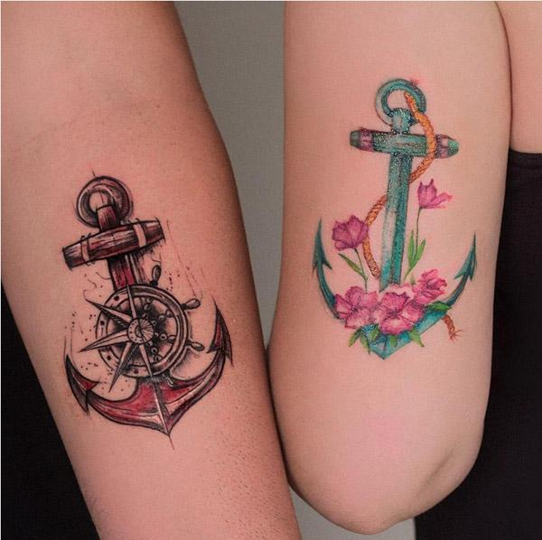 cool anchor tattoos