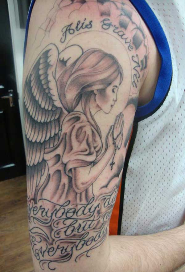 angel tattoos for guys