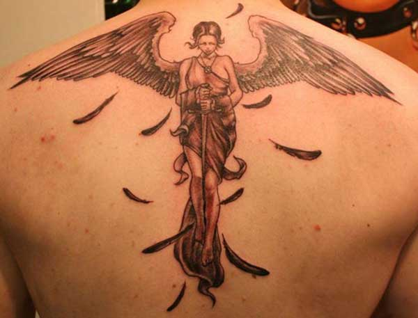 back angel tattoos
