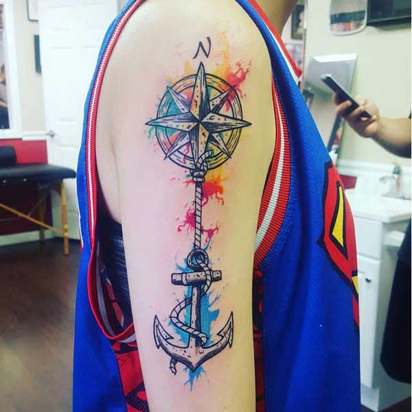 beautiful compass tattoos