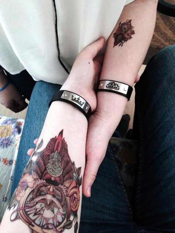 cool couple tattoos