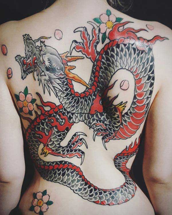 cool dragon tattoos