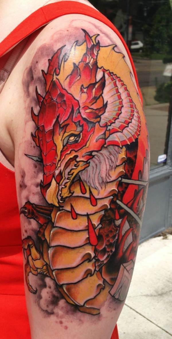 sárkány tetováló ötleteket