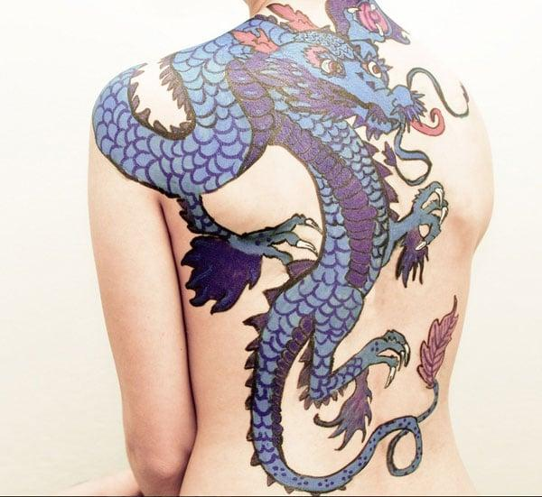 blue dragon tattoos