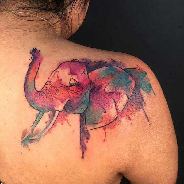 elepante tattoo sa likod
