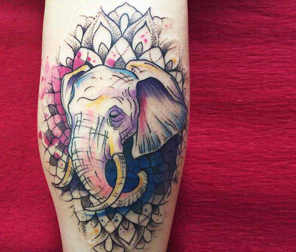 elephants tattoo designs