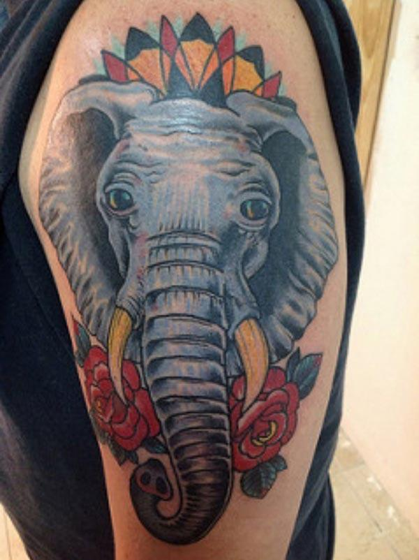 elefant face tattoos