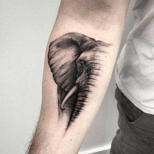 elepante tattoo sa braso
