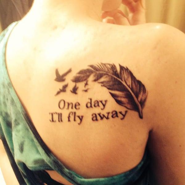 feather back tattoo