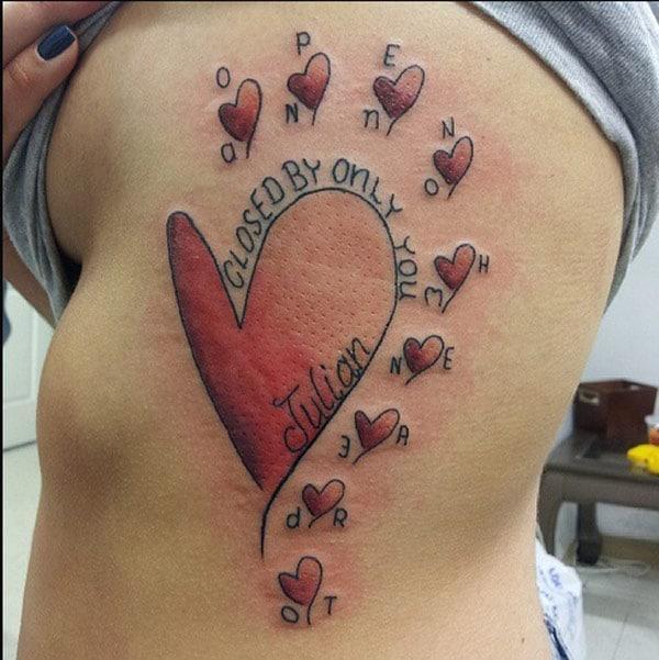 sevimli kalp dövmeleri