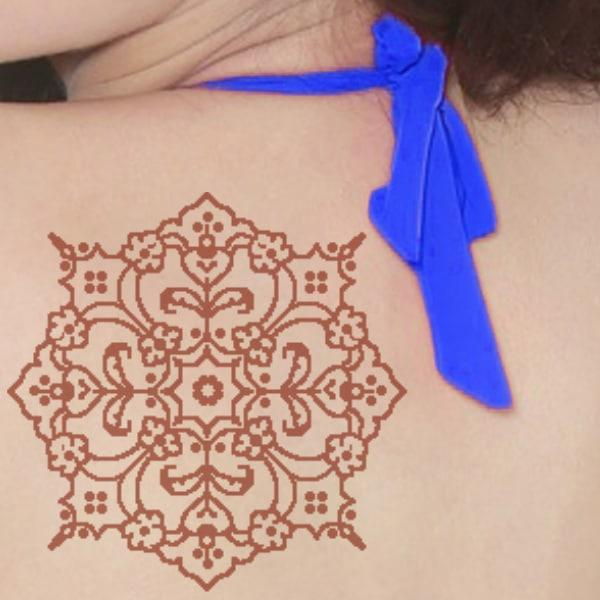 henna tattoo back