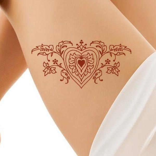 henna thigh tattoos