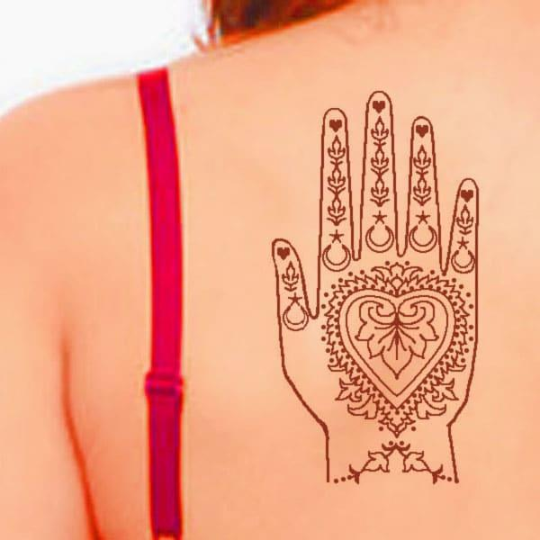 henna back tattoo designs