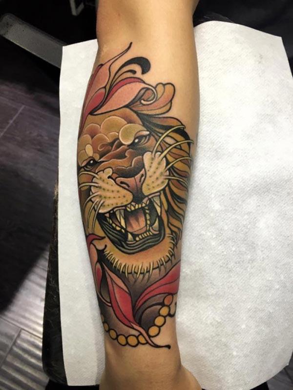 cool løve tatoveringer