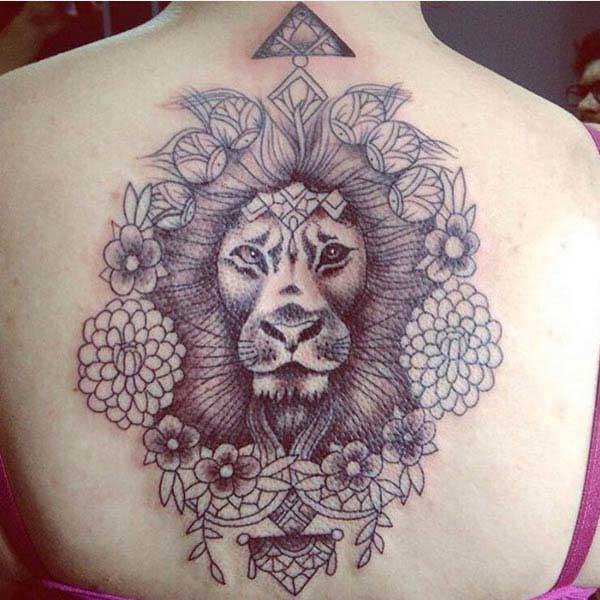 løve ansigt tatoveringer