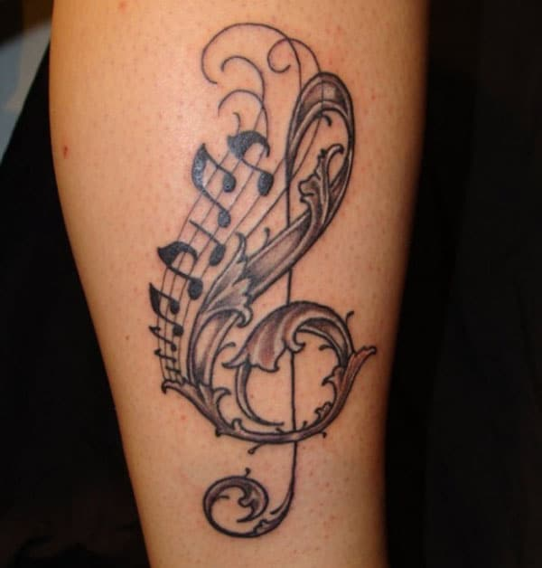 tattoo music designs