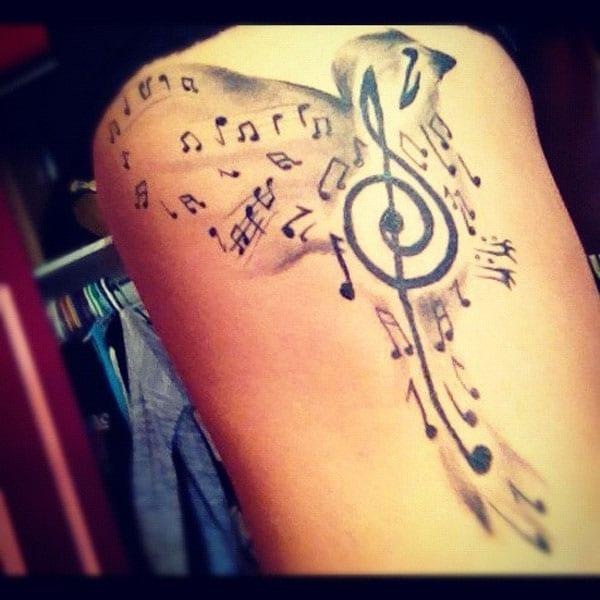 music tattoos on side