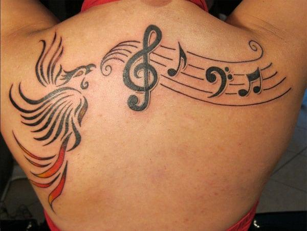 Best Music Tattoo on Back