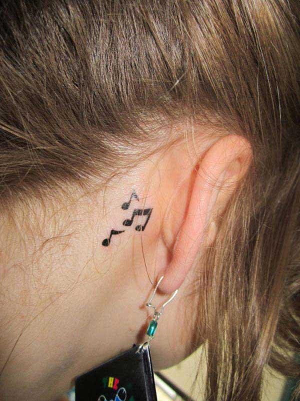 ear music tattoos