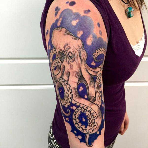 beautiful octopus tattoos