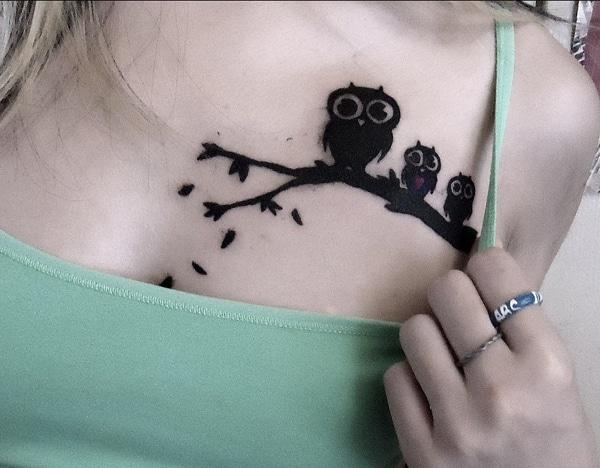 owl tattoo designs on chest