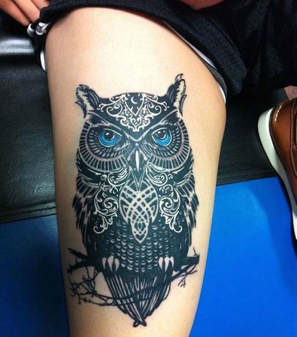 girly owl tattoos