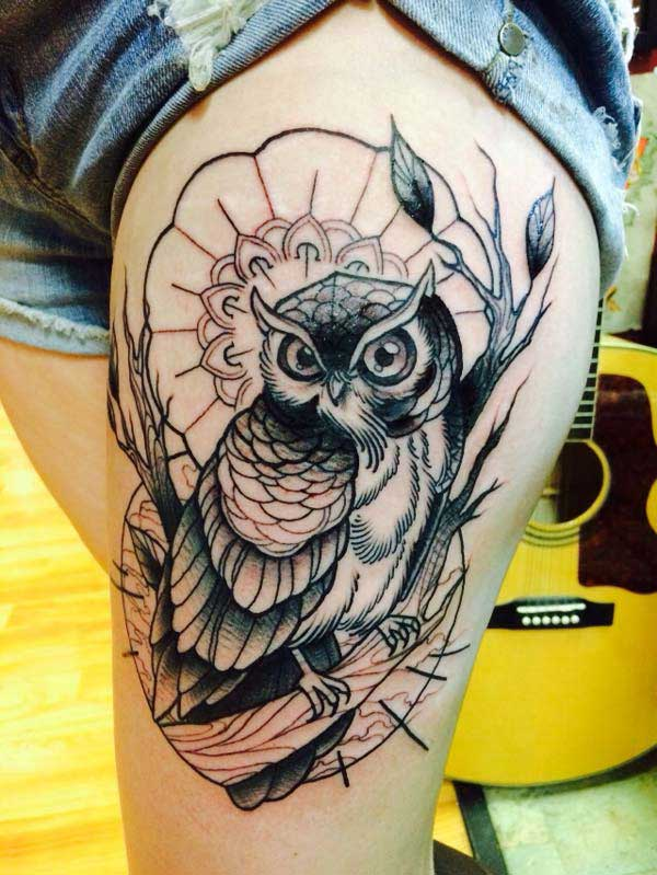 female owl tattoos