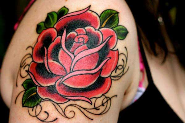 awensome rose tattoos