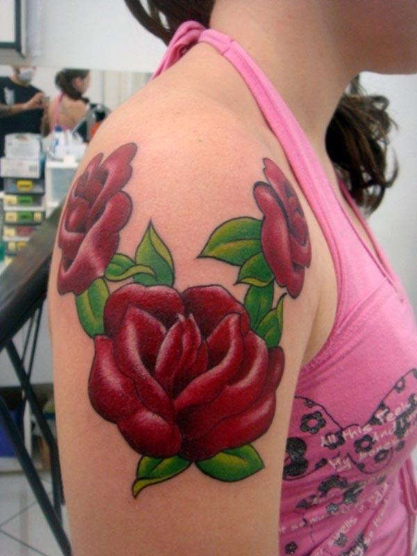 girl rose tattoos