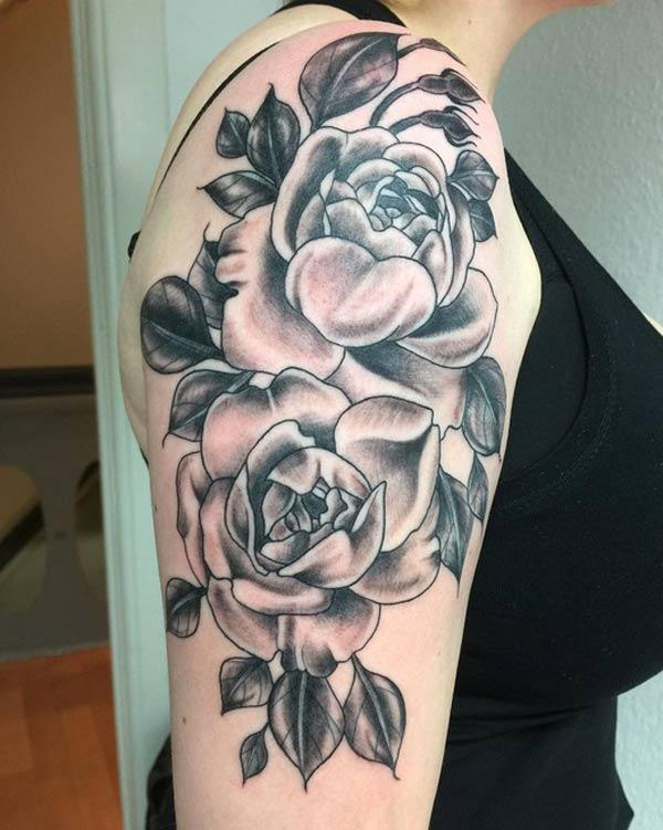 female rose tattoos
