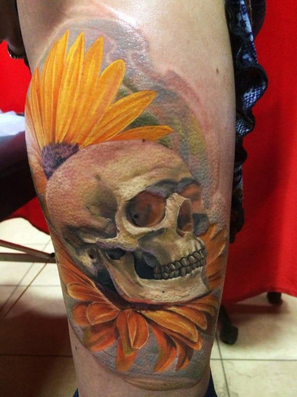 beautiful skull tattoos