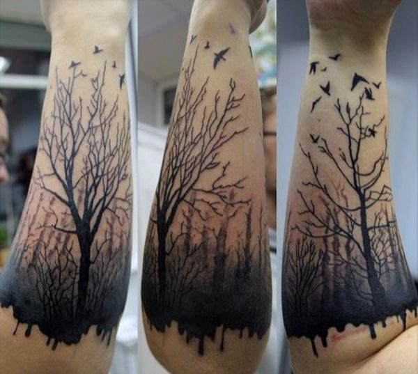 tree tattoo forearm