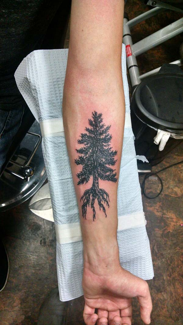 art de tatouage d'arbre