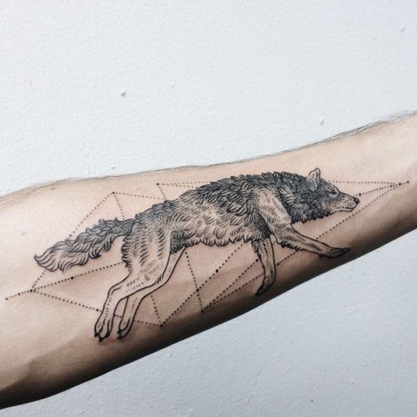 wzory tatuażu wilków
