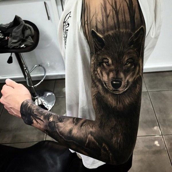 pomysły na wilki tatuaż