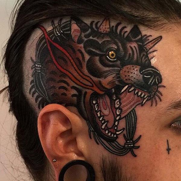 farkas fej tetoválás minták