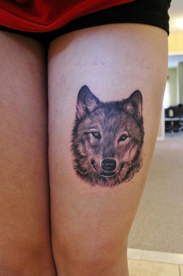 τατουάζ κορίτσι λύκος