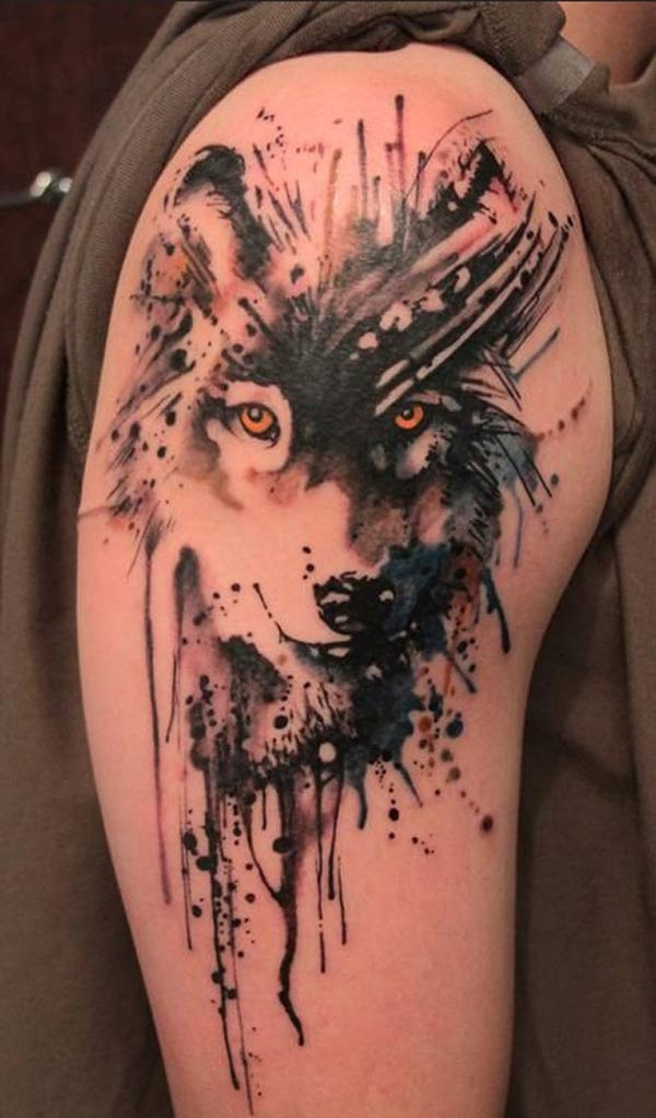 tatuaże wilka dla facetów