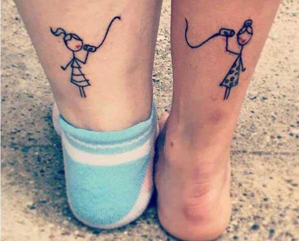 matching tattoos friends