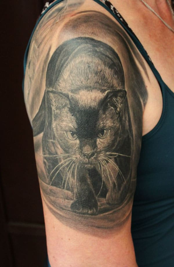 black cat tattoos