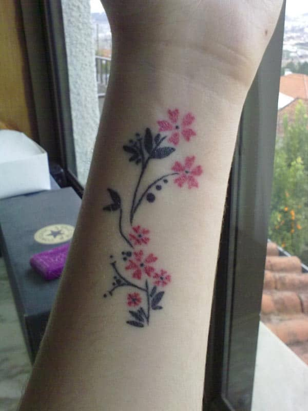 cherry blossom design tattoo