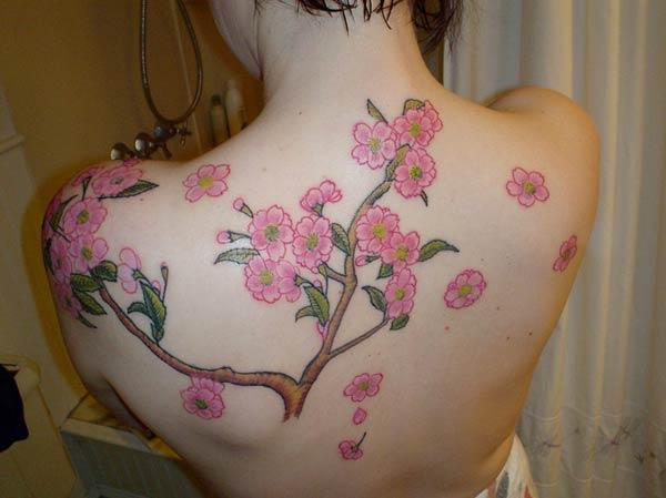 back cherry blossom tattoos