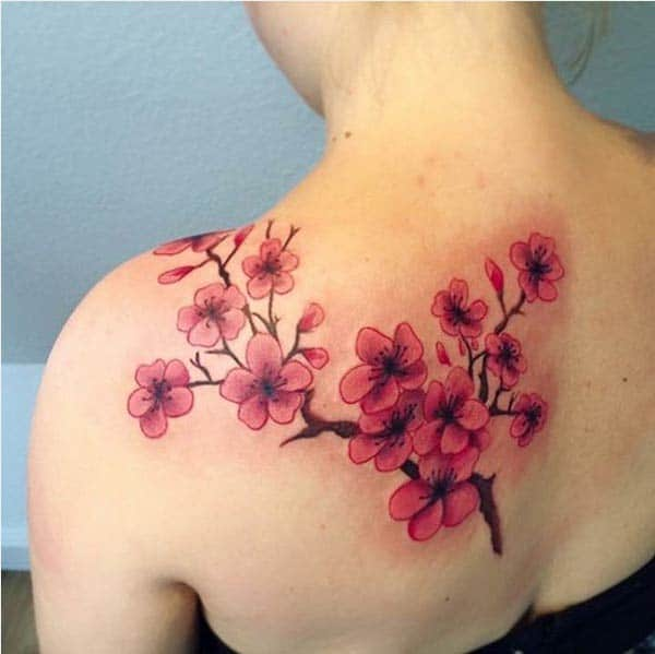 cute cherry blossom tattoos