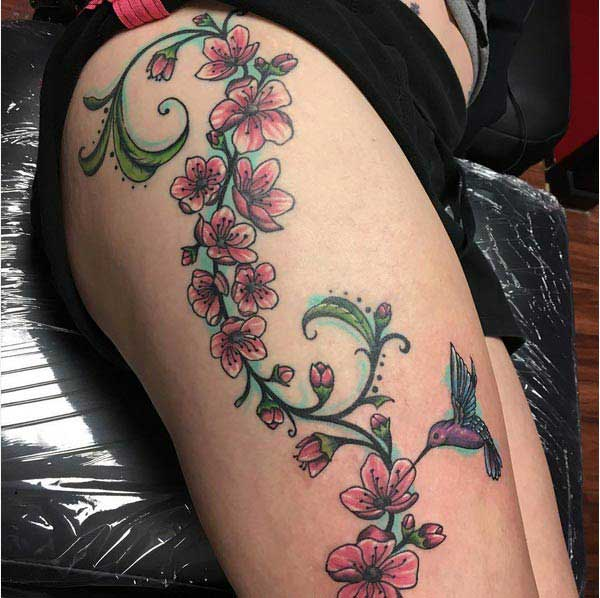 cool cherry blossom tattoos