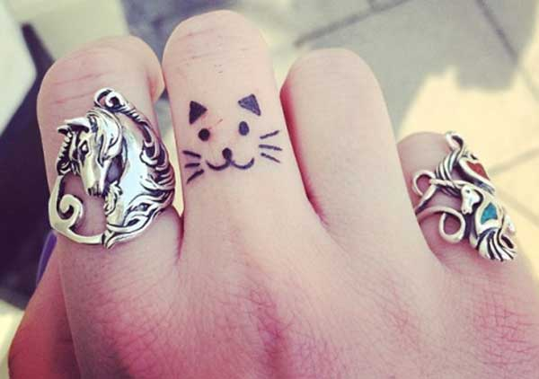 finger cute tattoos