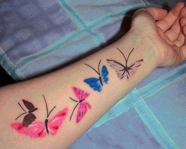 bướm dễ thương xăm