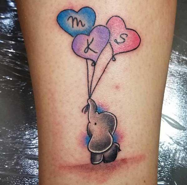 séiss kleng Tattoo'en