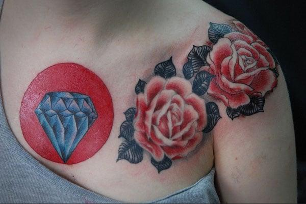 diamond tattoos for females