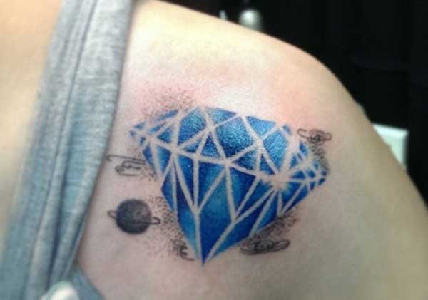 shoulder diamond tattoos